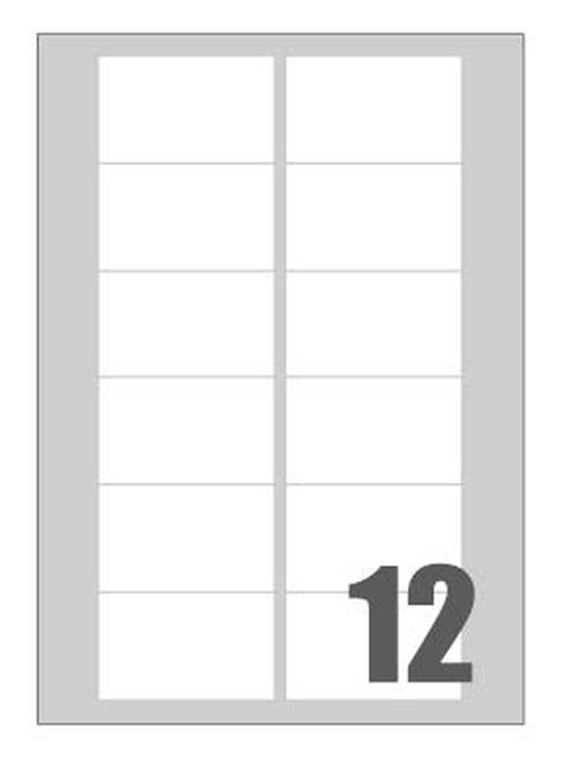 Picture of Self-adhesive labels Megasta 76x46 mm – 12 per sheet