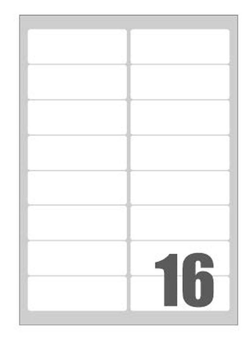 Picture of Self-adhesive labels Megastar 99x34 mm – 16 per sheet