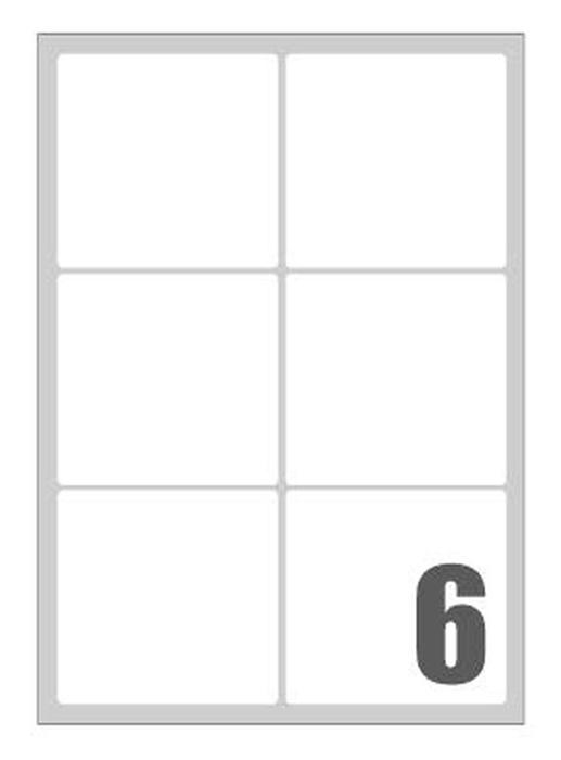 Picture of Self-adhesive labels Megastar 99,1x93,1 mm – 6 per sheet