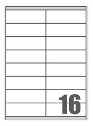 Picture of Self-adhesive labels Megastar 105x35 mm – 16 per sheet
