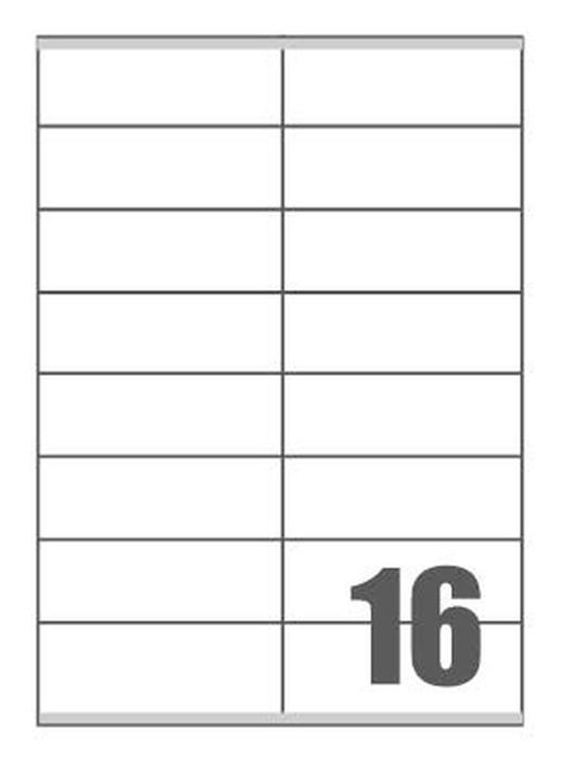 Picture of Self-adhesive labels Megastar 105x35 mm – 16 per sheet