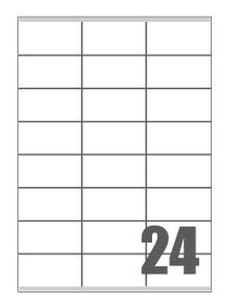 Picture of SAMOLJEPLJIVE etikete fluorescentne 70x36 mm - 24 na listu