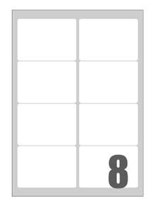 Slika od SAMOLJEPLJIVE etikete fluorescentne 99,1x67,7 mm - 8 na listu