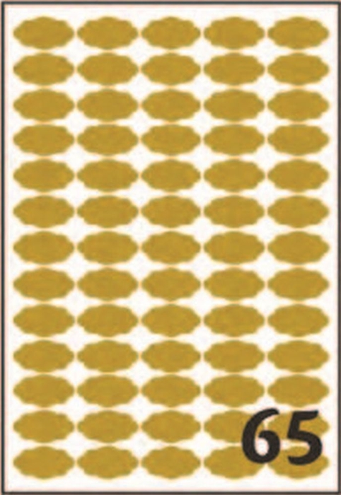 Picture of SELF-ADHESIVE labels Gold 36x19 mm – 25 sheets, 65 per sheet