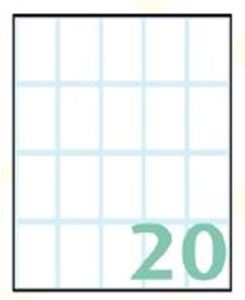 Picture of SELF-ADHESIVE labels Export 36 x 22 mm – 10 sheets, 20 per sheet
