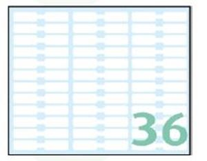 Picture of SELF-ADHESIVE labels Export 48x8 mm – 10 sheets, 36 per sheet