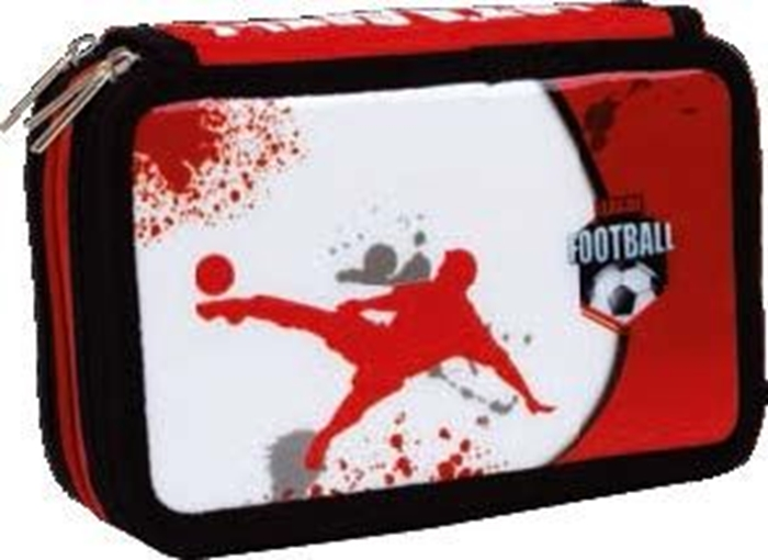 Picture of FOOTBALL triple filled pencil case