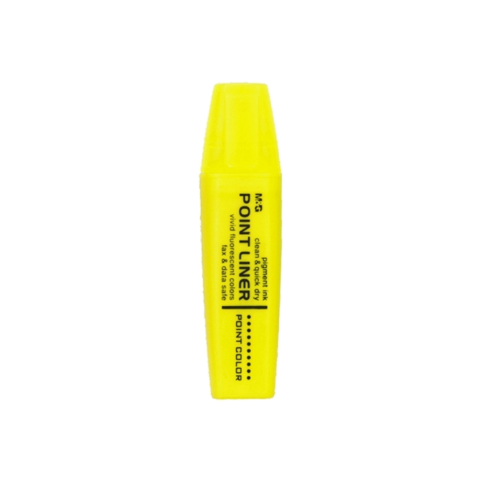 Picture of M&G FLUORESCENT MARKER Point liner with fragrant trail-yellow 1-12