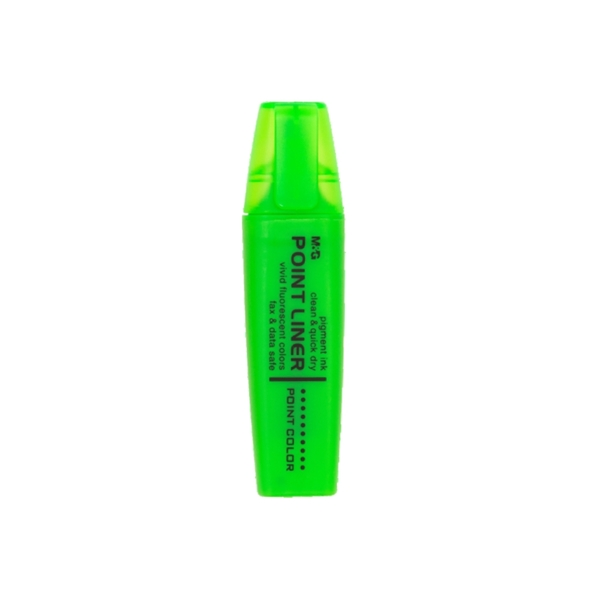 Picture of M&G FLUORESCENT MARKER Point liner with fragrant trail – Green 1-12