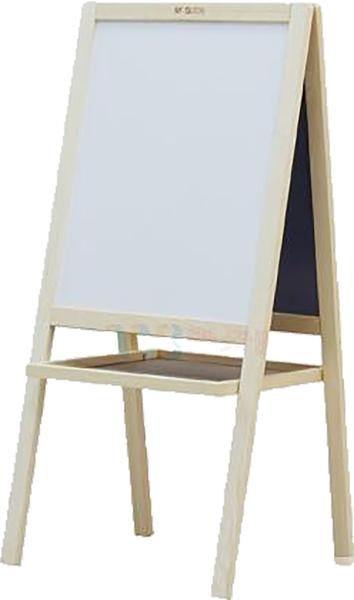Picture of Bijelo/zelena ploča s drvenim okvirom 42x52cm