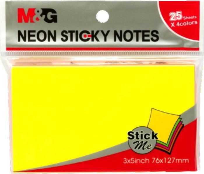 Slika od Samoljepljivi blokić NEON - 7,6x12,7cm