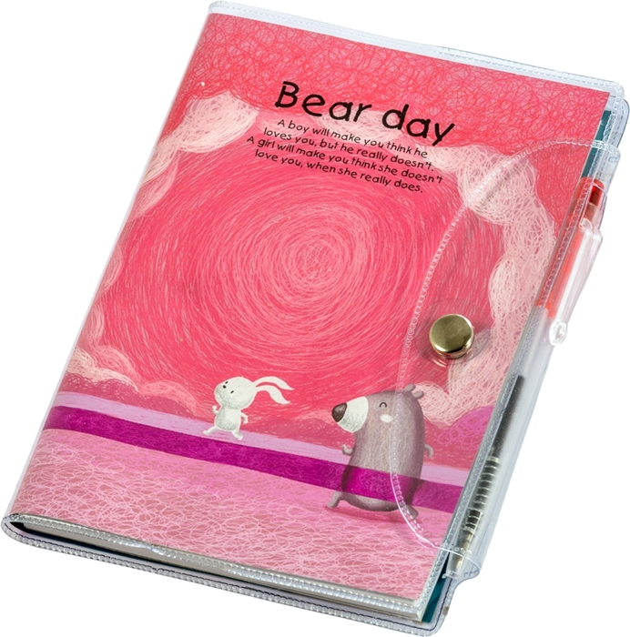 Slika od Bear day blok s olovkom A7