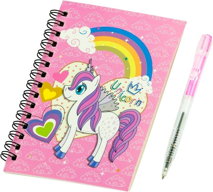 Picture of Spiralni blok s olovkom Unicorn