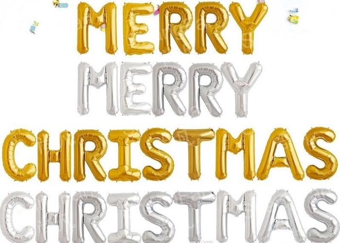 Slika od Natpis 'Merry Christmas' - Srebrni