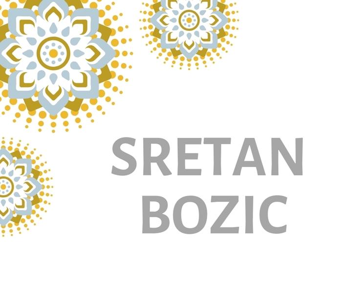 Slika od Natpis 'Sretan Bozic'' - Srebrni