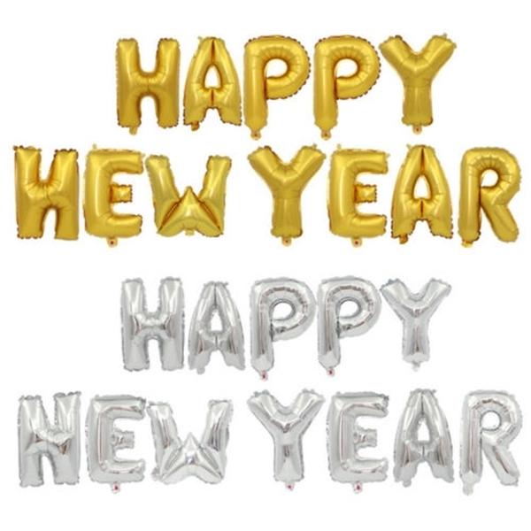 Picture of Natpis 'Happy new year' - Zlatni