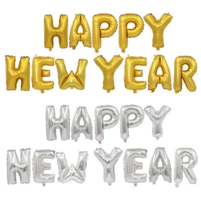 Slika od Natpis 'Happy new year' - Zlatni