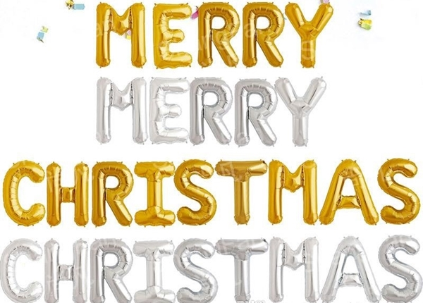 Picture of Natpis 'Merry Christmas' - Zlatni