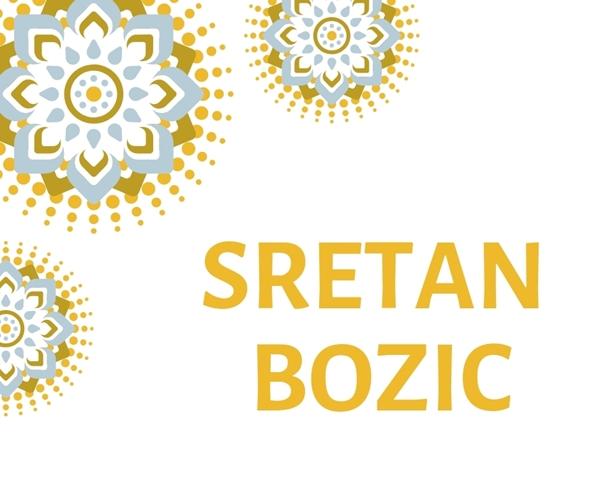 Picture of Natpis 'Sretan Bozic'' - Zlatni