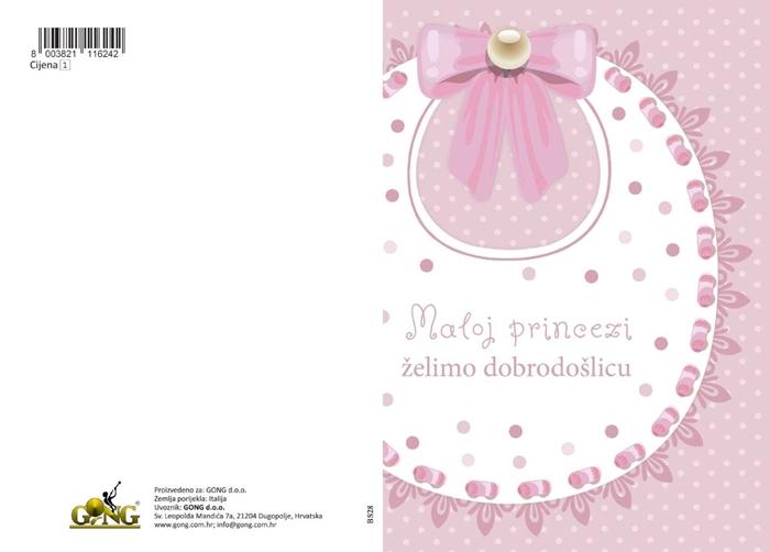 Slika od Čestitka - Maloj princezi