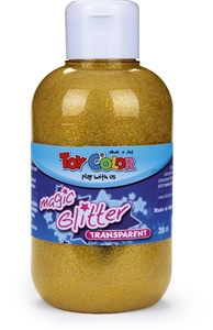 Picture of TOY COLOR glitter color 250 ml - gold