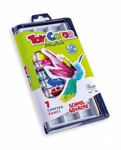 Picture of TOY COLOR tempera colors 12 ml 1-7