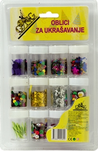 Slika od OBLICI za ukrašavanje – set 12 bočica