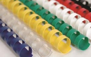 Slika od PLASTIČNA SPIRALA za uvez 25 mm – crvena