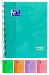 Slika od Spiralna bilježnica Pastel - kocke